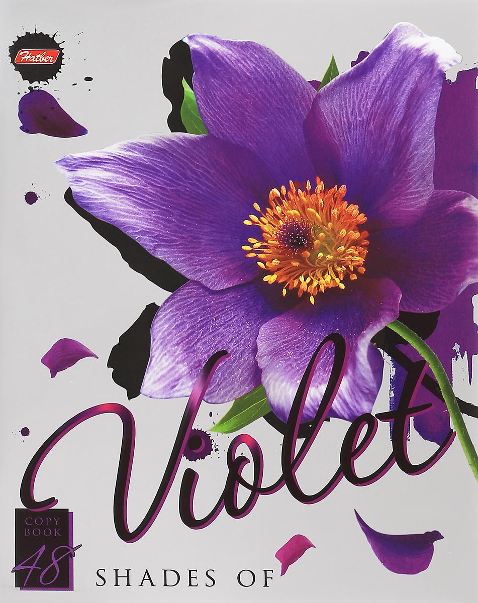 Hatber Тетрадь Violet 48 листов в клетку hatber тетрадь экстремалы бездорожья 48 листов в клетку цвет синий