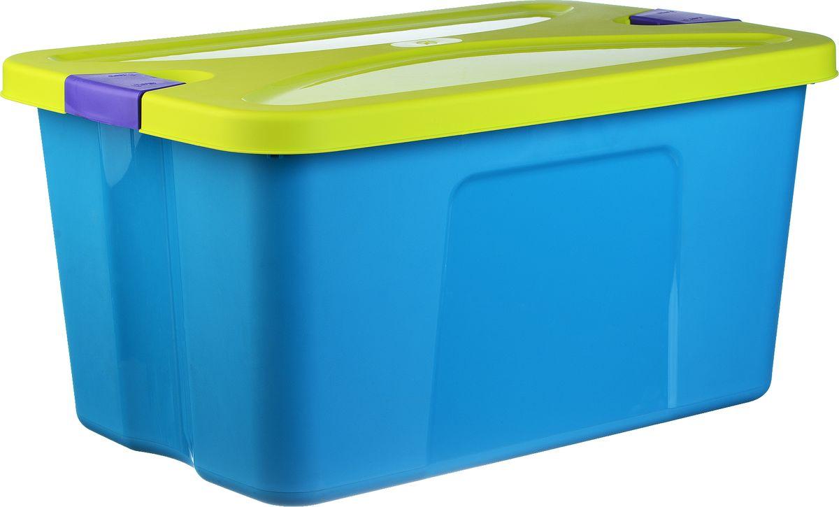 Idea Ящик для игрушек Секрет цвет бирюзовый 39 х 59 х 29,5 смМ 2597