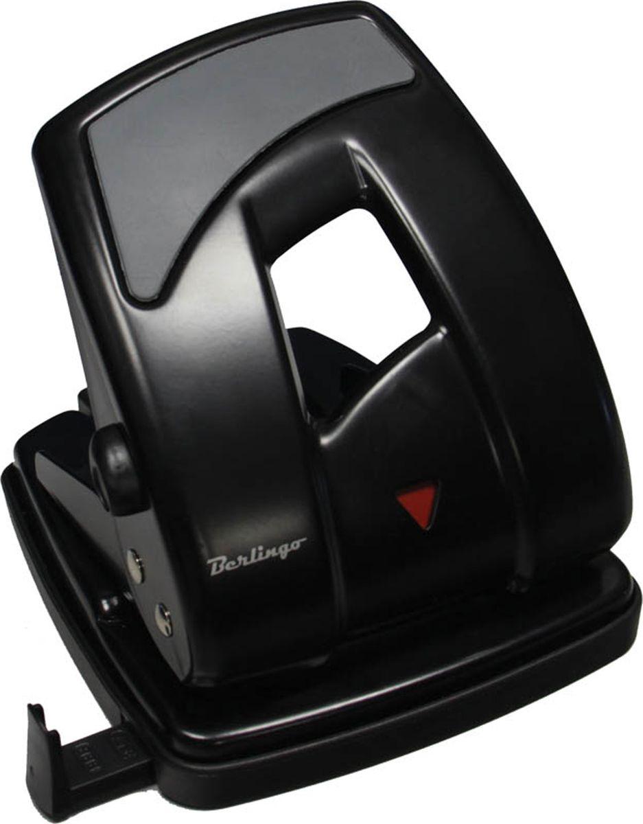 Berlingo Дырокол Ultra с линейкой на 40 листов цвет черный DDm_40101