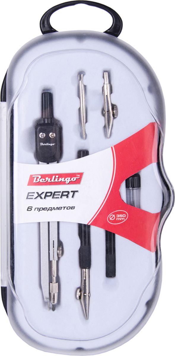 Berlingo Готовальня Expert 6 предметовDS_00606Готовальня Berlingo Expert представляет собой набор из 6 предметов: циркуль, сменный грифель, точечная насадка, рейсфедерная вставка, рейсфедер. Набор предназначен для чертежно-графических работ.
