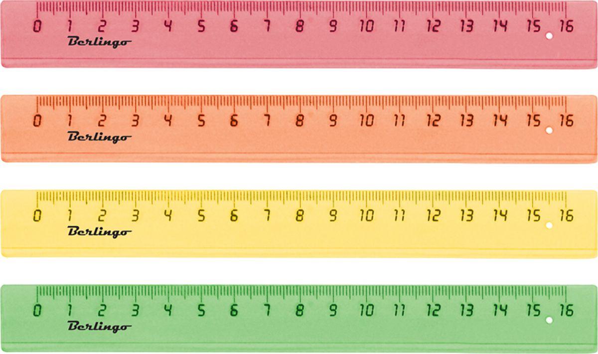 Berlingo Линейка цвет прозрачный оранжевый 16 смPR_00116Линейка Berlingo выполнена из полупрозрачного пластика. Длина линейки - 16 см. Линейка - это незаменимый атрибут, необходимый школьнику или студенту, упрощающий измерение и обеспечивающий ровность проводимых линий. Края линейки закруглены для безопасного использования.