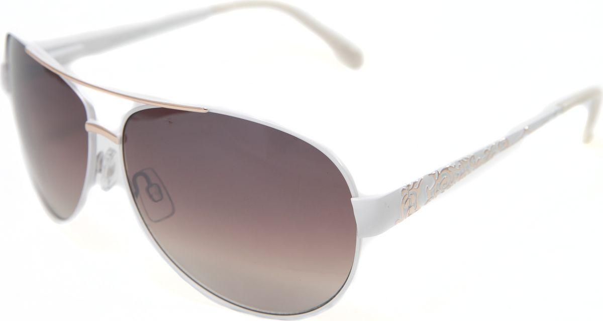 Очки солнцезащитные женские Mitya Veselkov, цвет: белый. MSK-1708MSK-1708Прекрасные антибликовые очки Mitya Veselkov, станут прекрасным и стильным аксессуаром для вас и защитят от УФ лучей. Они помогут глазу более четко распознать картинку, засвеченную солнечными лучами, при этом скорректируют все возникшие искажения.