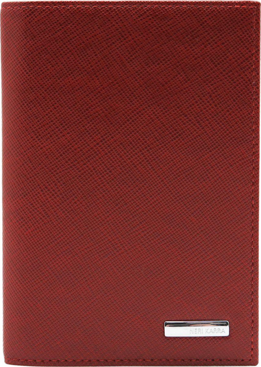 Обложка для паспорта женская Neri Karra, цвет: красный. 0040 40.50/301.05021201_01Обложка для паспорта Neri Karra из натуральной кожи красного цвета с мелким тиснением, внутри гладкая кожа.