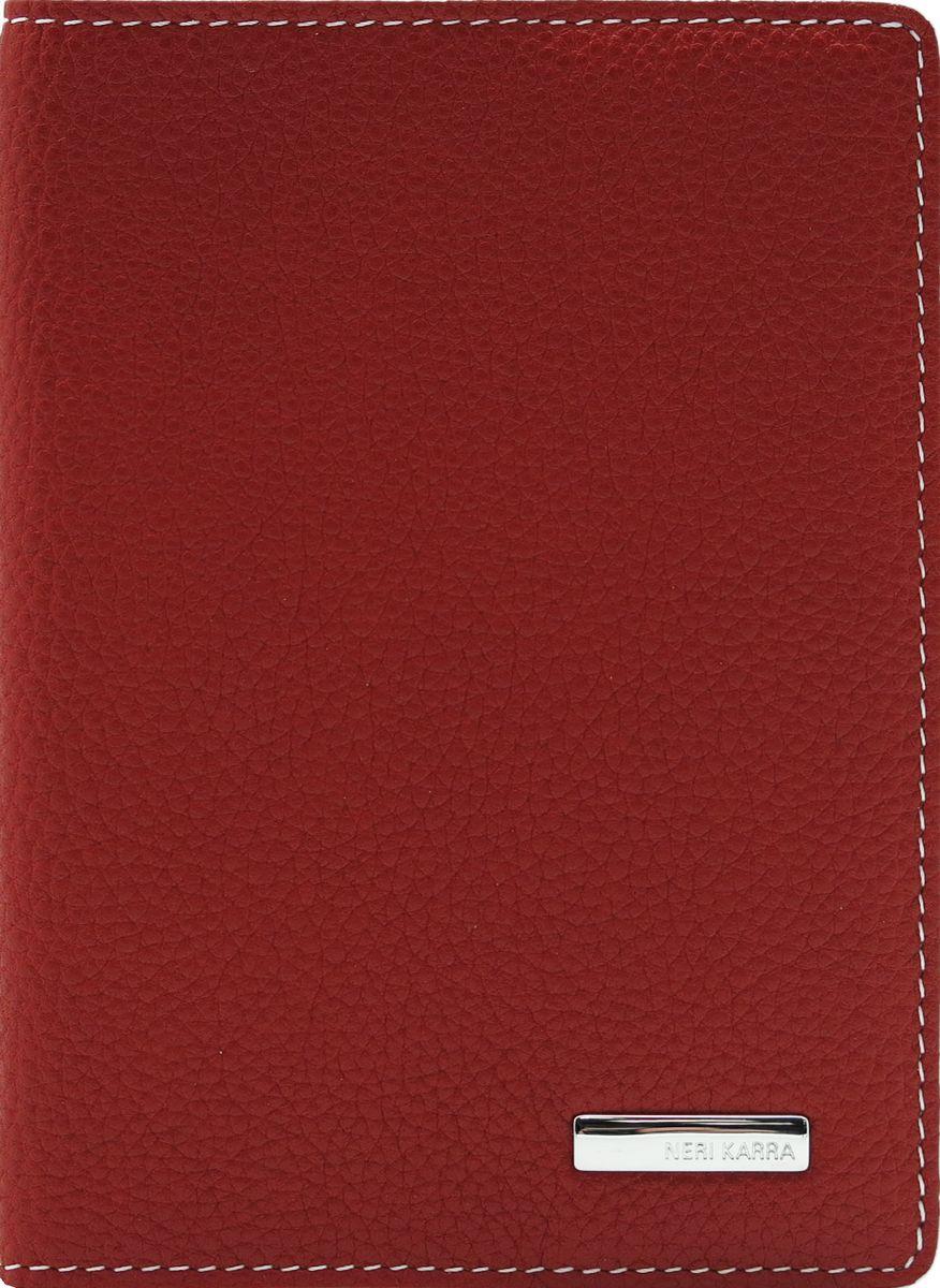 Обложка для паспорта женская Neri Karra, цвет: красный, белый. 0140 05.05/120140 05.05/12Обложка для паспорта Neri Karra выполнена из натуральной зернистой кожи и дополнена металлическим логотипом бренда. Края дополнены прострочкой. Внутри у модели широкие удобные поля.