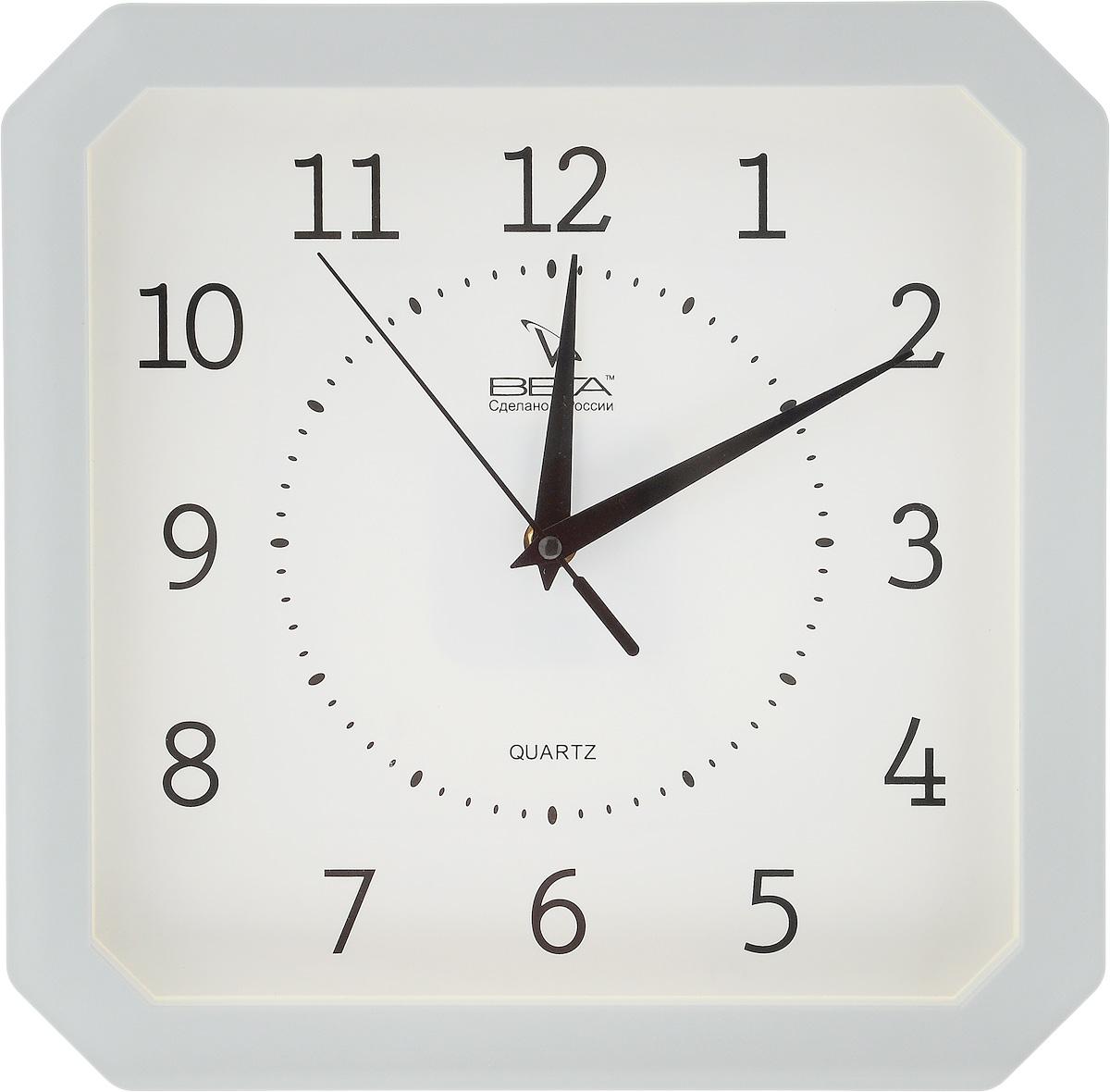 Часы настенные Вега Классика, цвет: серый, белый, 27,5 х 27,5 смП4-5/7-19Настенные кварцевые часы Вега Классика, изготовленные из пластика, прекрасно впишутся в интерьер вашего дома. Часы имеют три стрелки: часовую, минутную и секундную, циферблат защищен прозрачным стеклом. Часы работают от 1 батарейки типа АА напряжением 1,5 В (не входит в комплект). Прилагается инструкция по эксплуатации.