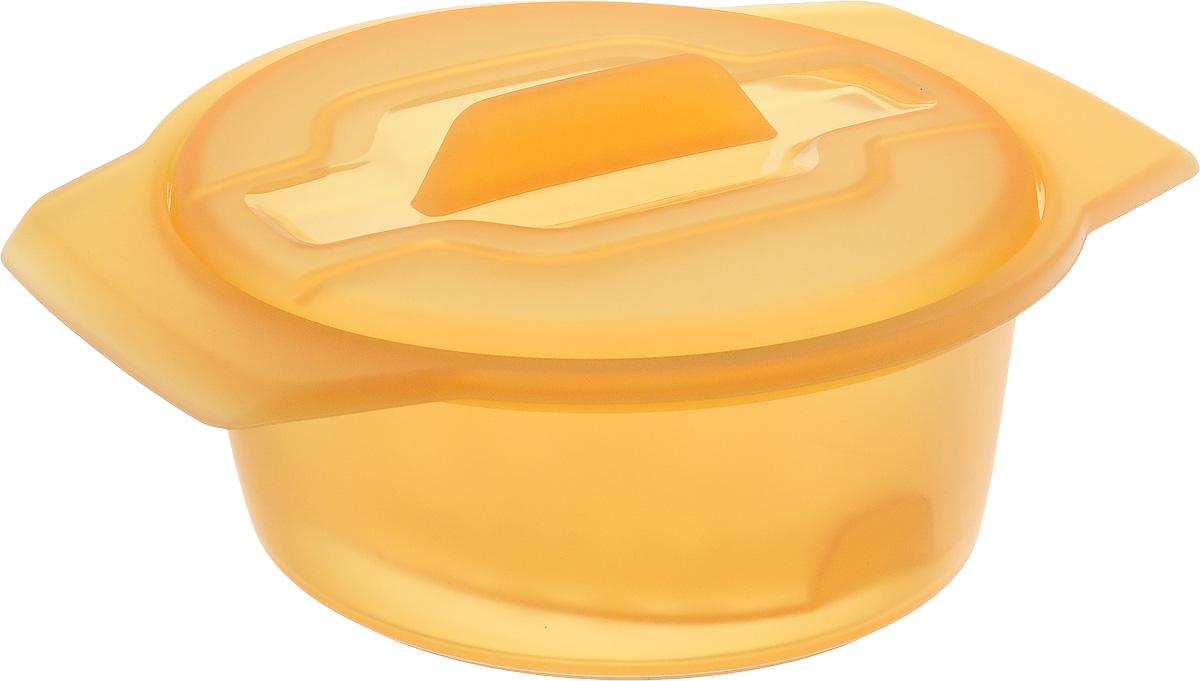 """Контейнер-пароварка Tescoma """"Fusion Diet Revolution"""", силиконовый, цвет: оранжевый, диаметр 12 см 638312_оранжевый"""