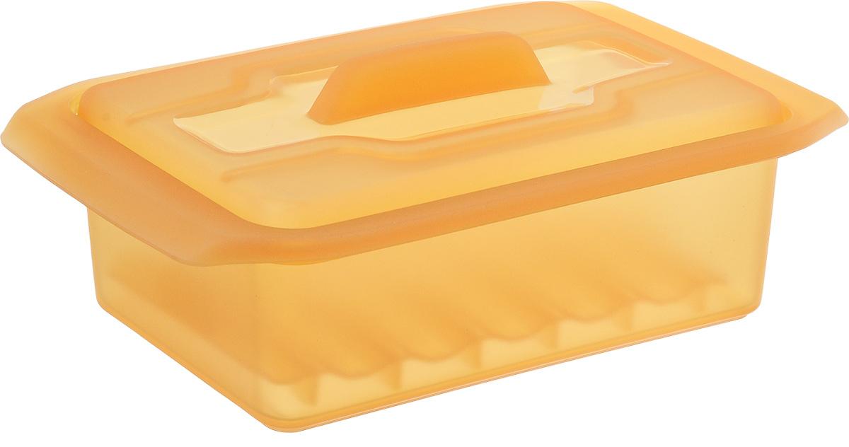 """Контейнер-пароварка Tescoma """"Fusion Diet Revolution"""", силиконовый, цвет: оранжевый, 15 x 8 см. 638330 638330_оранжевый"""