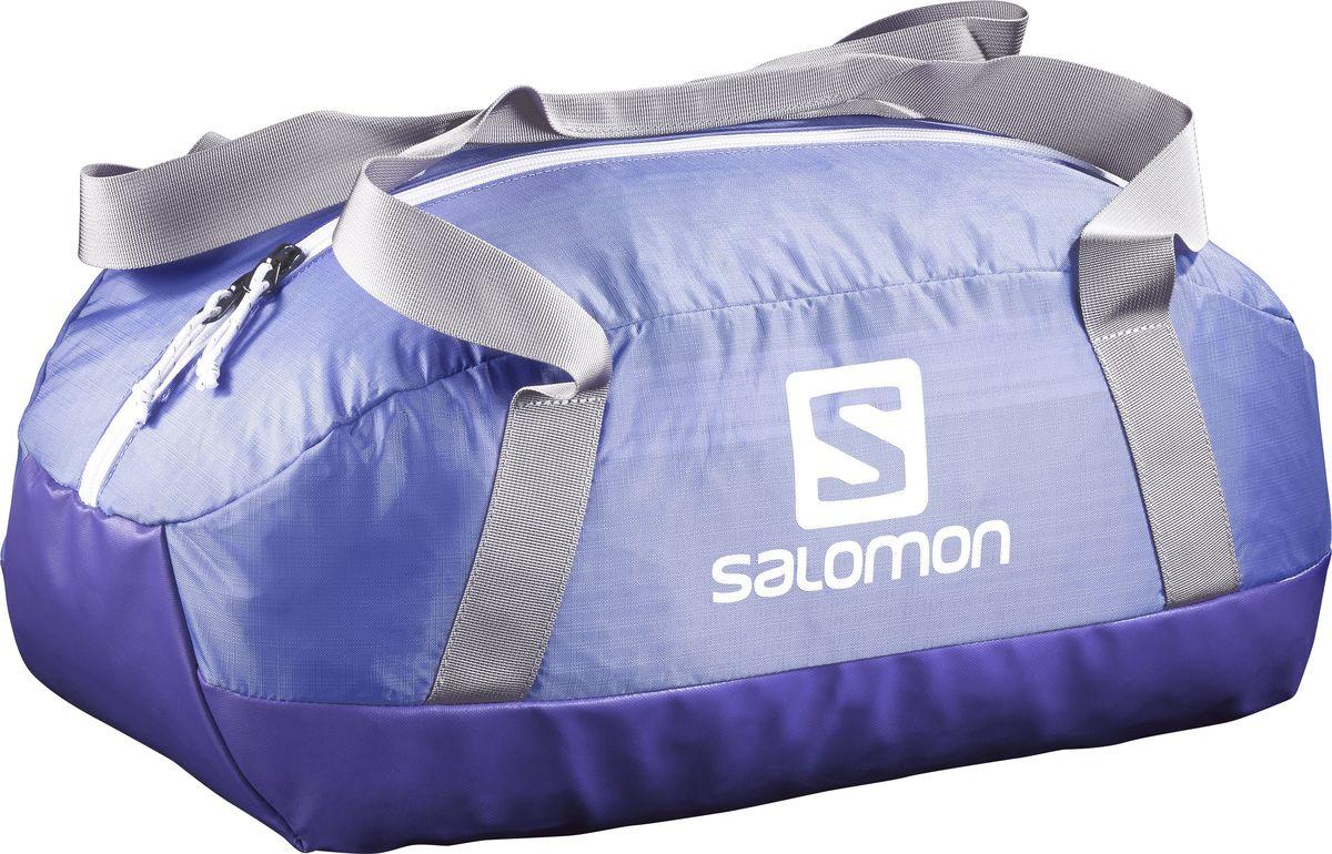 Сумка спортивная Salomon Prolog 25, цвет: синий, 25 лL39282000Сумка Salomon Prolog 25 Bag выполнена из качественного полиэстера и оформлена принтом с изображением логотипа бренда. Сумка оснащена удобными ручками и закрывается на застежку-молнию. Внутри расположено вместительное отделение, которое содержит небольшой вшитый карман на молнии для мелочей. Небольшая сумка Prolog Bag удобна для похода в спортивный зал. Прочное непромокаемое дно надежно защитит вещи на любой поверхности.