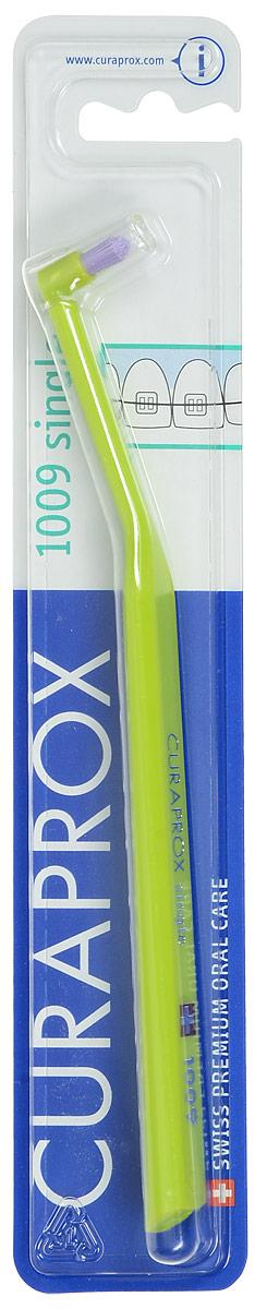 Curaprox CS 1009 Монопучковая щетка single & sulcular, цвет: салатовый, 9 мм4605845001470Curaprox CS 1009 Монопучковая щетка single & sulcular, цвет: салатовый, 9 мм