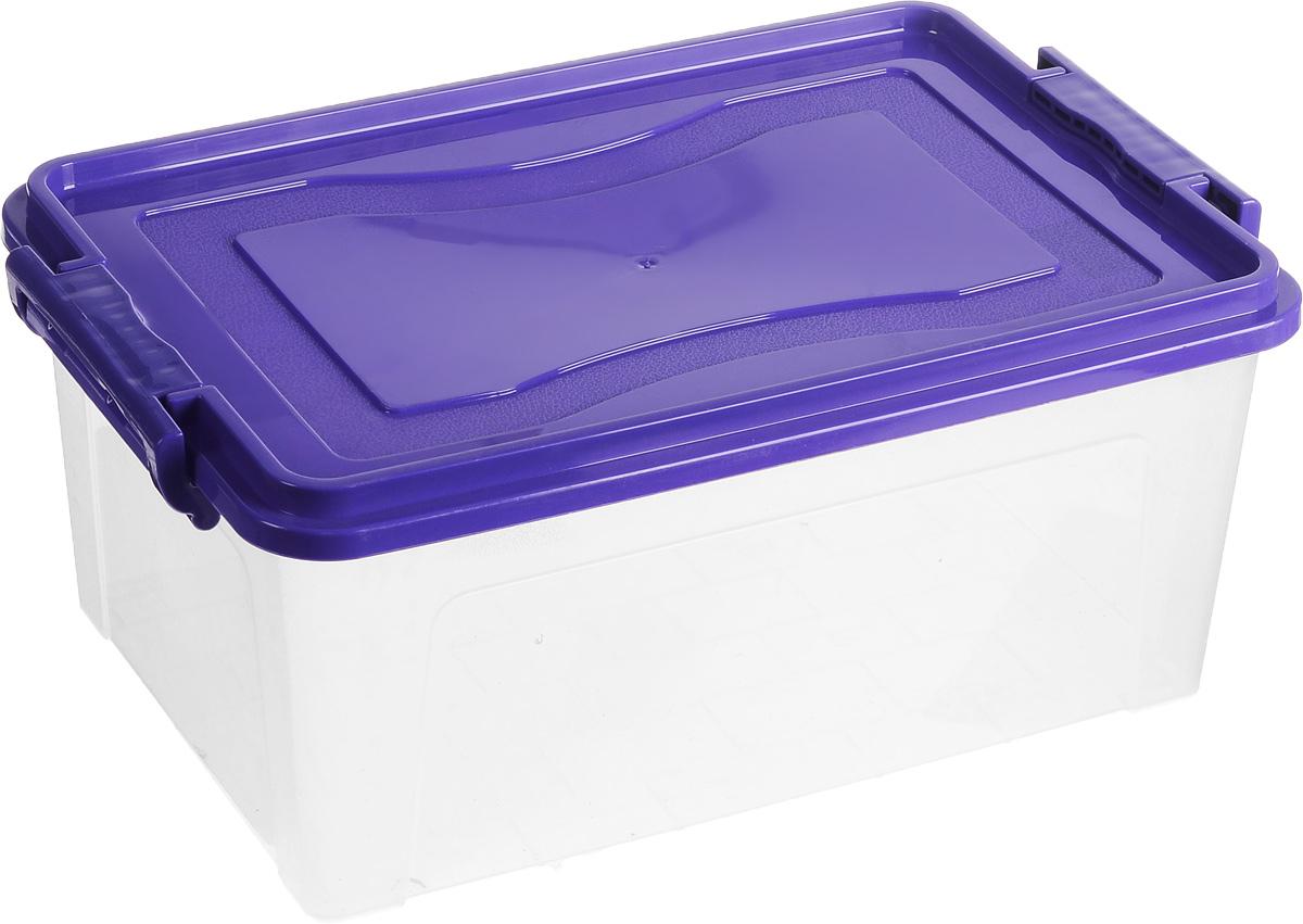 Контейнер для хранения Idea Микс, прямоугольный, цвет: прозрачный, фиолетовый, 14 лS03301004Контейнер для хранения Idea Микс выполнен из высококачественного пластика. Контейнер снабжен двумя пластиковыми фиксаторами по бокам, придающими дополнительную надежность закрывания крышки. Вместительный контейнер позволит сохранить различные нужные вещи в порядке, а герметичная крышка предотвратит случайное открывание, защитит содержимое от пыли и грязи.