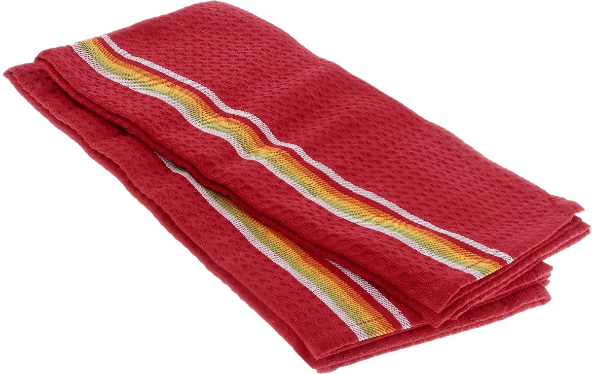 Полотенце для посуды Tescoma Presto Tone, цвет: красный, 70 x 50 см, 2 шт639770_КрасныйМягкое полотенце Tescoma Presto Tone выполнено из натурального хлопка. Изделие отлично впитывает влагу и не оставляет подтеков. Полотенце предназначено для протирания посуды и многофункционального использования на кухне. В комплект входят 2 полотенца. Традиционная клеточка и сочные цвета сделают изделие украшением любого кухонного интерьера. Размер: 70 х 50 см.