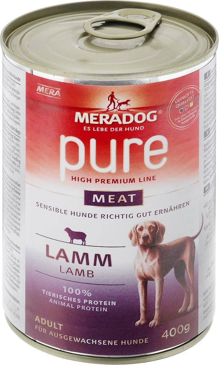 Консервы для собак Meradog Pure Meat, c ягненком, 400 г53104Консервы для собак Meradog Pure Meat - полнорационный корм, представляющий собой фарш из нескольких видов мясного сырья ягненка (мясо, качественные субпродукты). Этот беззерновой корм идеально подходит для привередливых собак, а также для собак с пищевыми проблемами и аллергиями. Благодаря содержанию исключительно натуральных компонентов корм обеспечивает организм животного всеми необходимыми минеральными веществами и витаминами. Состав: ягненок (73%: сердца, мясо, печень, рубцы ягненка), бульон из мяса ягненка, минеральные вещества. Пищевая ценность: белки 10,8%, жиры 6,7%, сырая зола 2,2%, сырая клетчатка 0,4%, влага 75%. Товар сертифицирован.