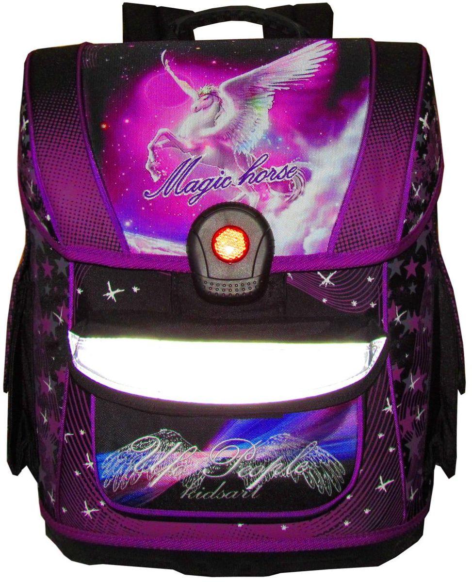 UFO people Ранец школьный цвет фиолетовый 12-205VS16-SB-001Ортопедическая мягкая спинка-Замок Light Click, специально разработанный для компании ufo people ( замок из 100% PC пластик) -Жесткое водонепроницаемое дно.