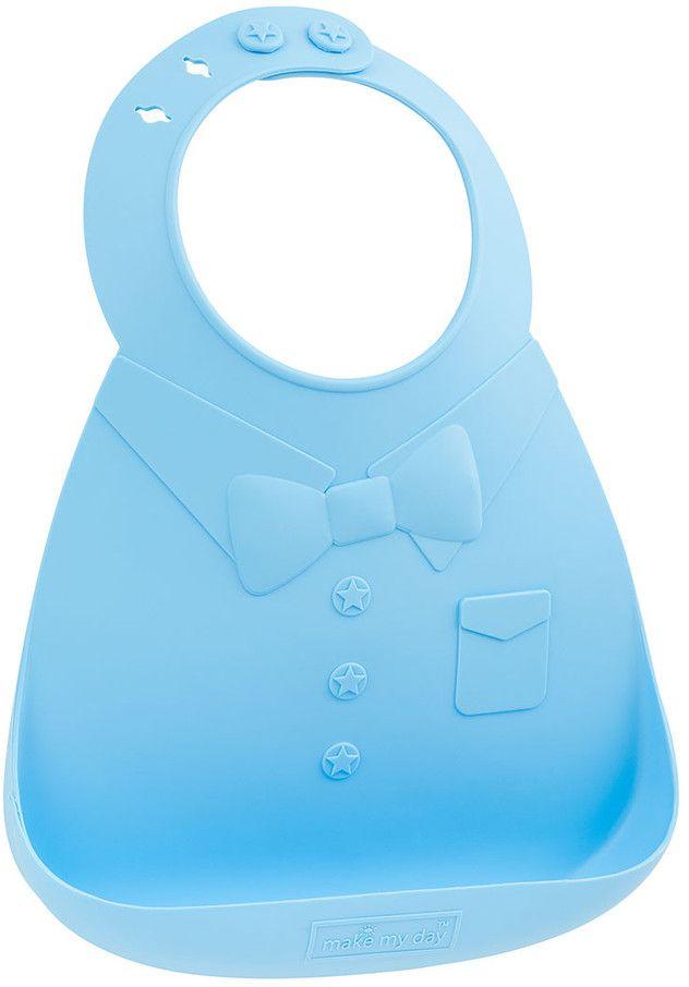 Make My Day Нагрудник Baby Bib цвет голубой BB106