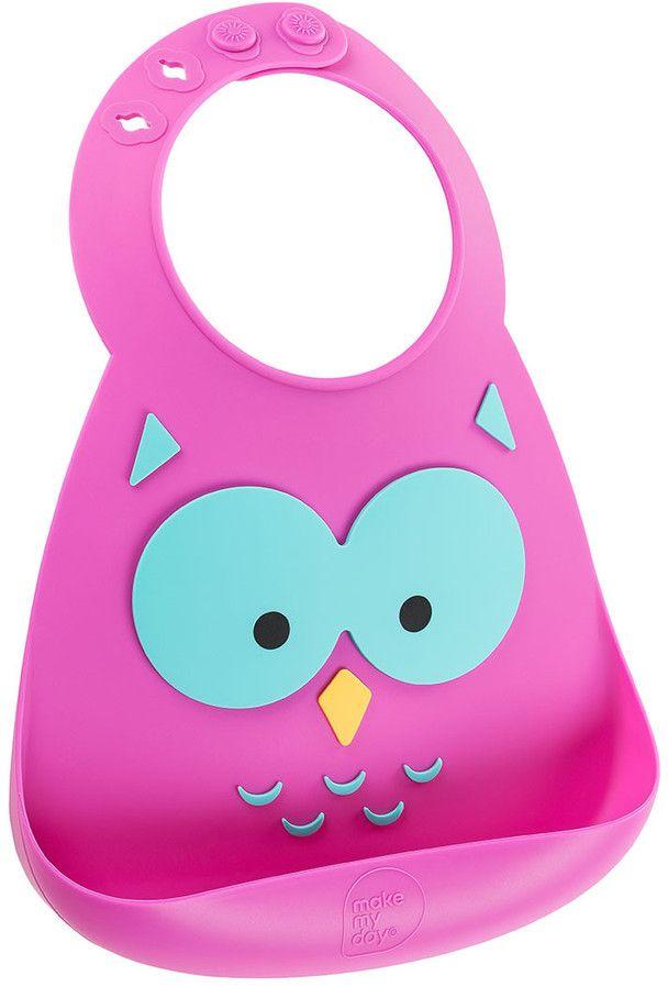 Make My Day Нагрудник Baby Bib Owl BB110