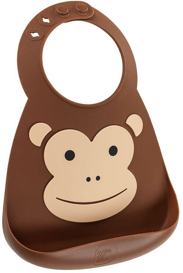 Make My Day Нагрудник Baby Bib Monkey BB113