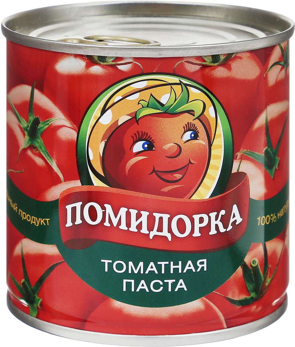 Помидорка Томатная паста, 250 г4654Томатная паста Помидорка - гармоничный продукт с оригинальным свежим вкусом, насыщенным цветом и ароматом. В ней отсутствуют искусственные пищевые добавки - это полностью натуральный продукт. Томатная паста Помидорка очень густая (содержит более 25-28% сухих веществ) и приготовлена только из помидоров.