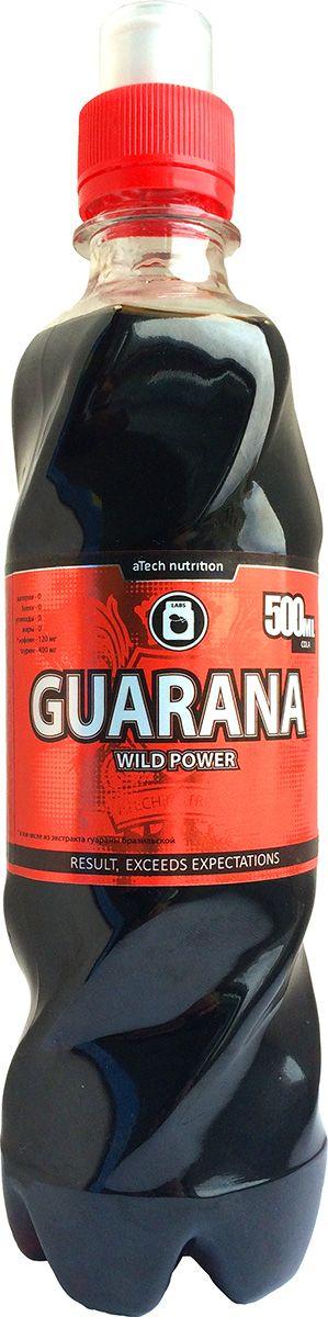Энергетический напиток aTech Nutrition Guarana Wild Power, кола, 500 мл4630019670077Wild Power утолит жажду и взбодрит вашу нервную систему перед предстоящими физическими или умственными нагрузками! В отличии от газированных напитков, Wild Power не содержит сахара и приготовлен на натуральных ингредиентах, содержит Гуарану Бразильскую, Таурин и минимум калорий! вода подготовленная, экстракт гуараны, кофеин, таурин, регулятор кислотности (яблочная и лимонная кислота), консервант (сорбат калия, бензоат натрия), натуральный пищевой краситель кармин, подсластитель сукралоза
