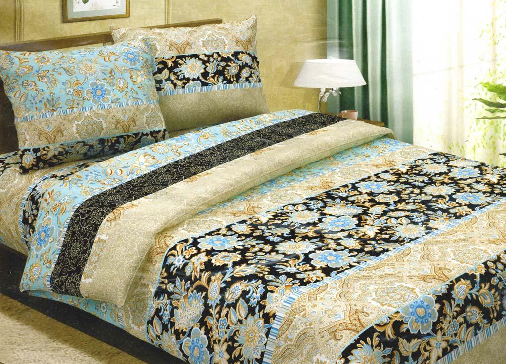 Комплект белья Primavera Роскошный, 1,5-спальный, наволочки 70x70, цвет: коричневый80675