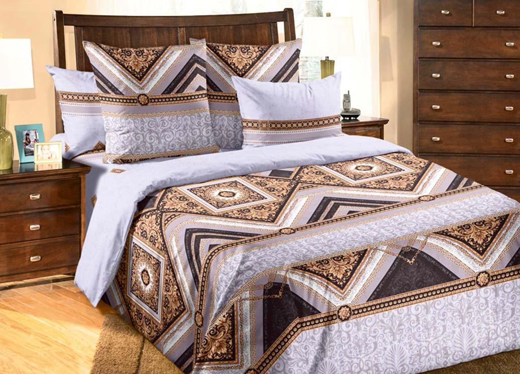 Комплект белья Primavera Королевский, 2-спальный, наволочки 70x70, цвет: сиреневый80804