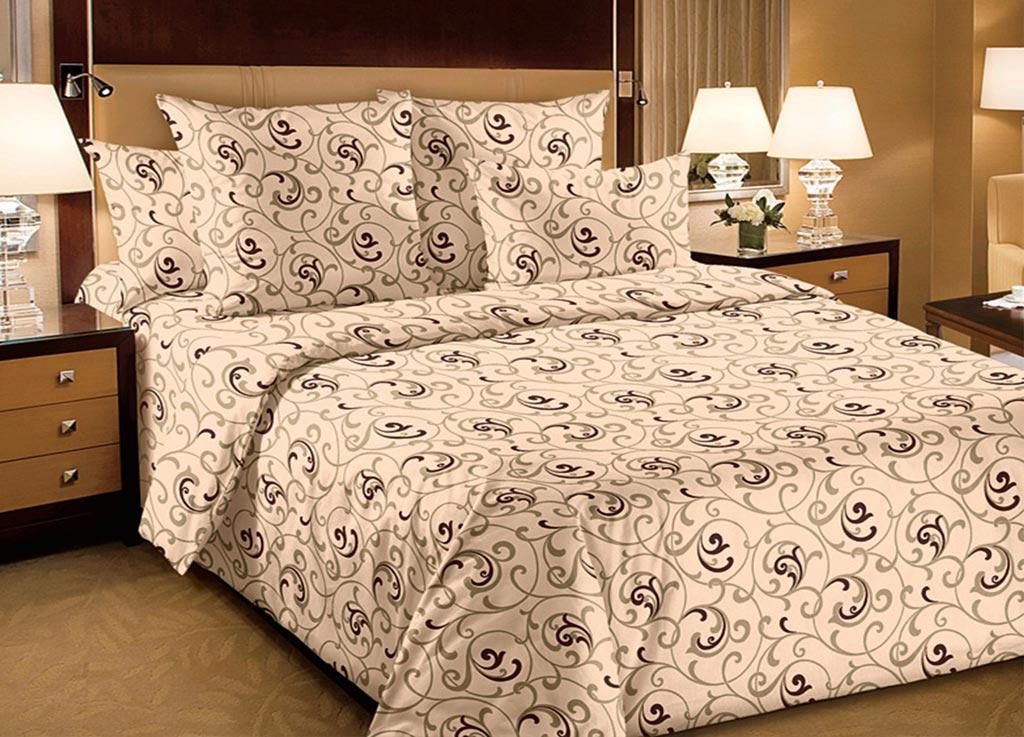 Комплект белья Primavera Вензель, 1,5-спальный, наволочки 70x70, цвет: бежевый87842