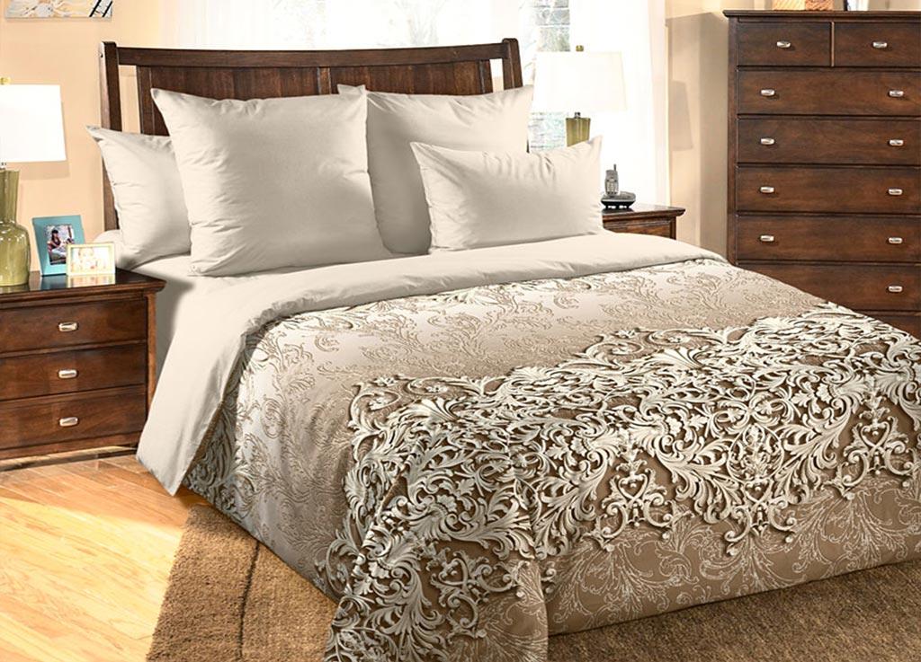Комплект белья Primavera Вензель, 1,5-спальный, наволочки 70x70, цвет: бежевый. 8905389053