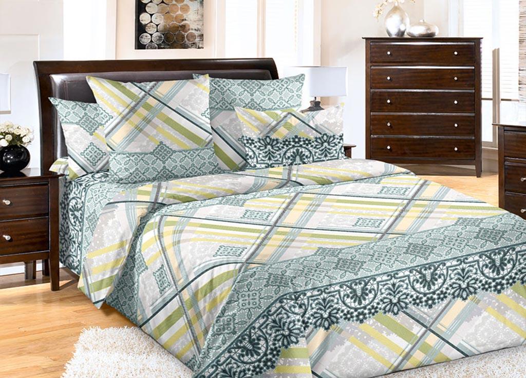 Комплект белья Primavera Кружево, семейный, наволочки 70x70, 50x70, цвет: зеленый89152