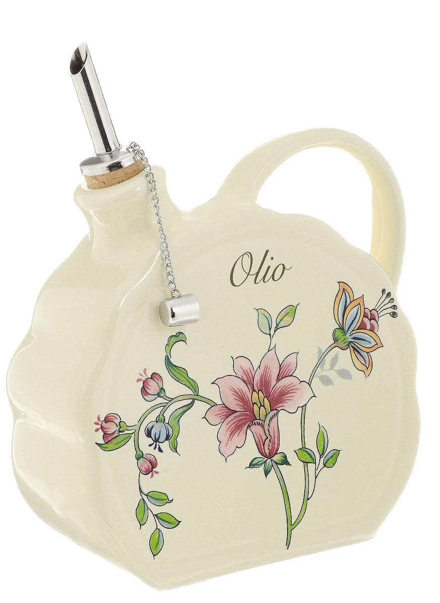 Бутылка для масла Nuova Cer Прованс, 700 млPRV-7386Бутылка для масла Nuova Cer выполнена из высококачественной керамики и оформлена цветочным рисунком. Емкость оснащена удобной ручкой и пробкой с металлическим разбрызгивателем. Бутылка легка в использовании, стоит только перевернуть ее, и вы с легкостью сможете добавить оливковое или подсолнечное масло по своему вкусу. Оригинальная емкость будет отлично смотреться на вашей кухне. Изделие нельзя мыть в посудомоечной машине. Размер бутылки (без учета носика и ручки): 13 см х 14 см х 6,5 см.