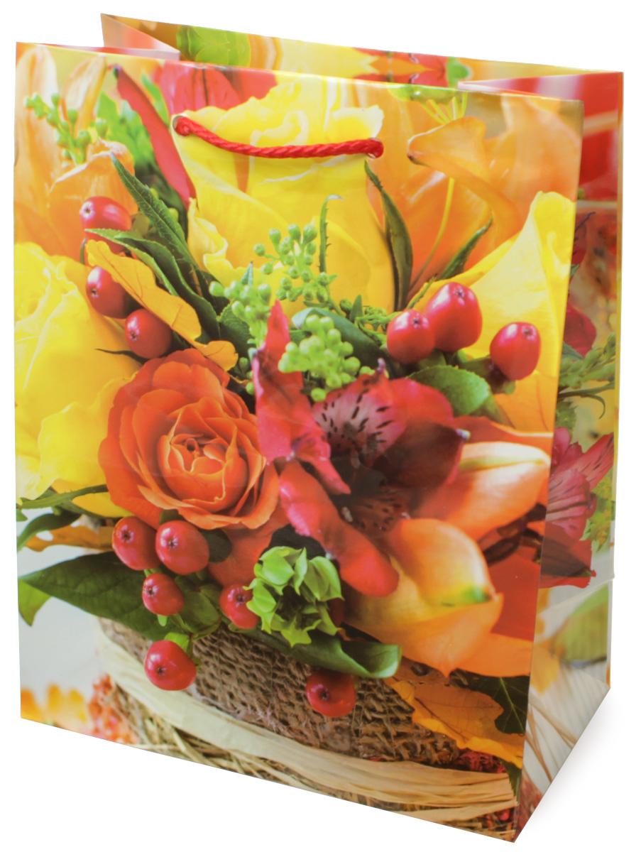 Пакет подарочный МегаМАГ Цветы, 18 х 22,7 х 10 см. H2. 2140 M2140 MПакет подарочный ламинированный. Ручки-шнурки. Размер: 18 х 22,7 х10 см.