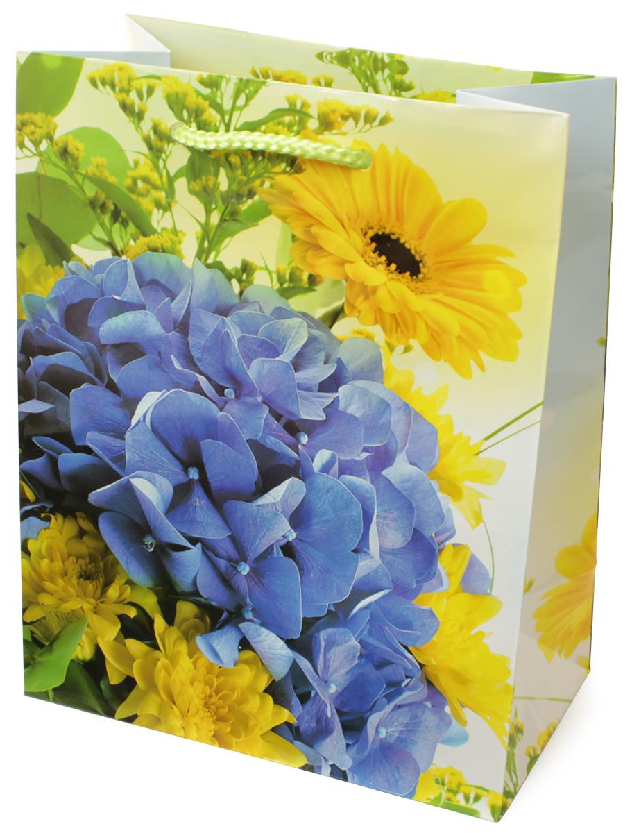 Пакет подарочный МегаМАГ Цветы, 18 х 22,7 х 10 см. H2. 2141 M2141 MПакет подарочный ламинированный. Ручки-шнурки. Размер: 18 х 22,7 х10 см.