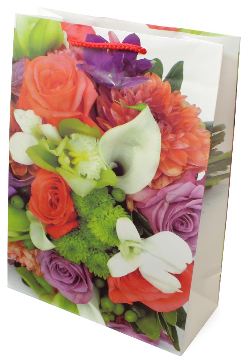 Пакет подарочный МегаМАГ Цветы, 22 х 31 х 10 см. H2. 7030 ML7030 MLПакет подарочный ламинированный. Ручки-шнурки. Размер:220*310*100 мм .