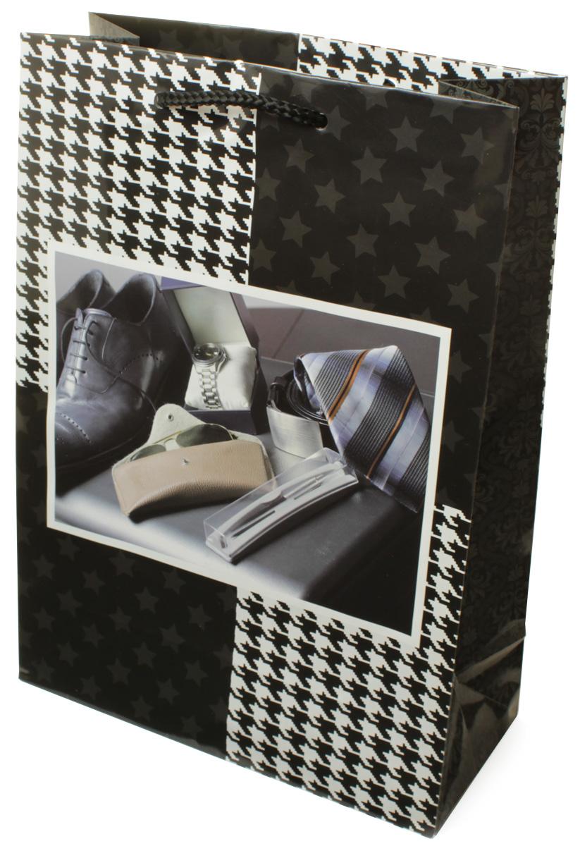 Пакет подарочный МегаМАГ Мужская тематика, 22 х 31 х 10 см. H2. 7063 ML7063 MLПакет подарочный ламинированный. Ручки-шнурки. Размер:220*310*100 мм .