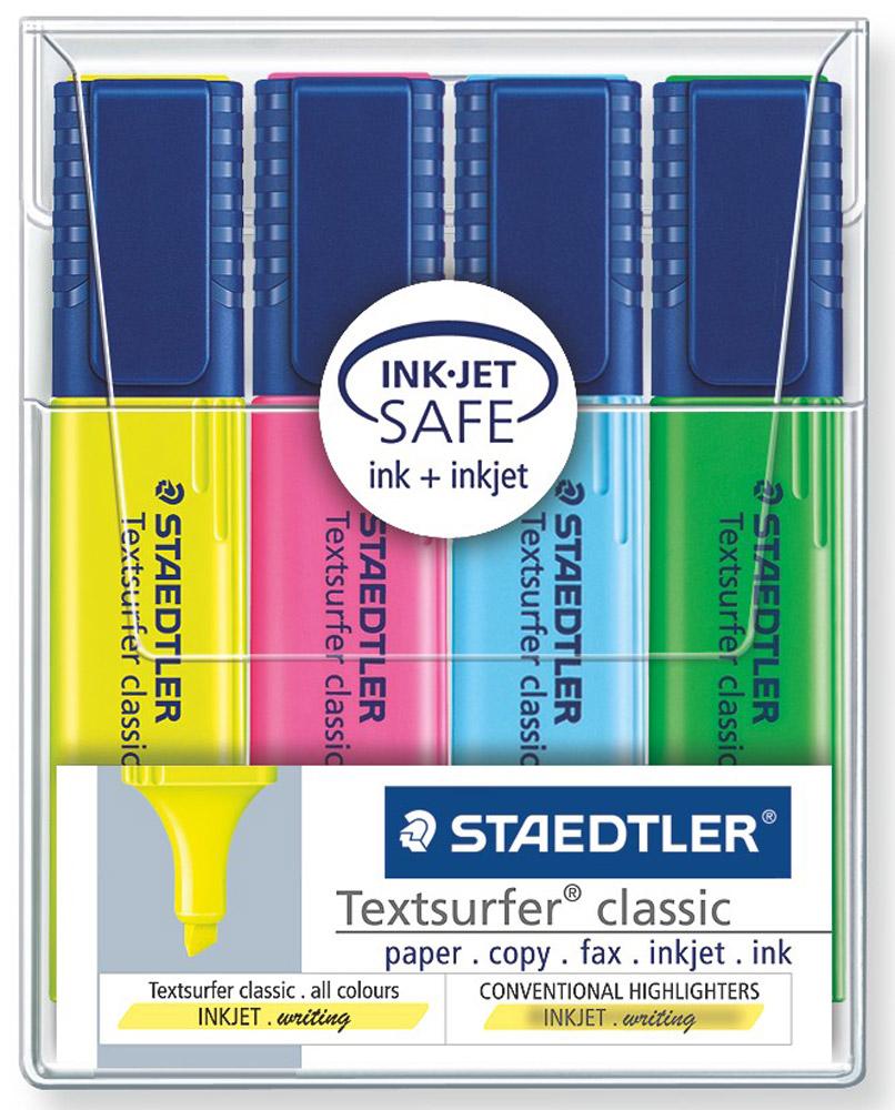 Staedtler Набор текстовыделителей Classic 4 цвета 364WP404