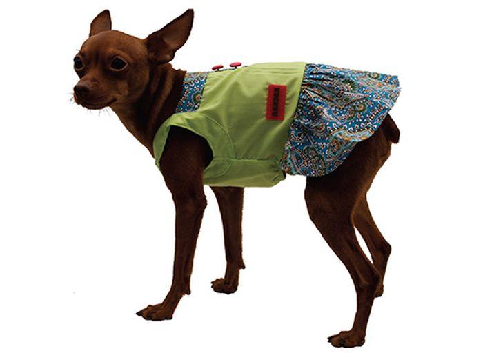 Сарафан для собак Каскад Восточный огурец, для девочки, цвет: салатовый. Размер M52000993