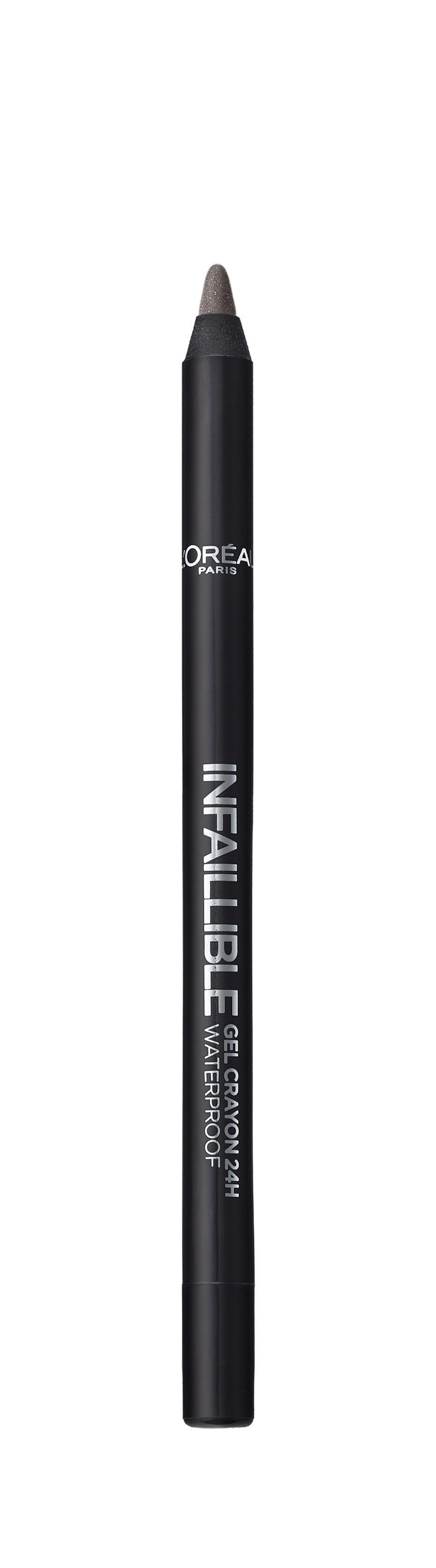 LOreal Paris Стойкий гелевый карандаш для глаз Infaillible, Оттенок 4, На серой высотеA8995100Насыщенные пигменты и гелевая основа карандаша способствуют точному нанесению и устойчивому водостойкому результату на 24 часа. Множество оттенков – от базовых до самых ярких – для разнообразных вариантов макияжа.