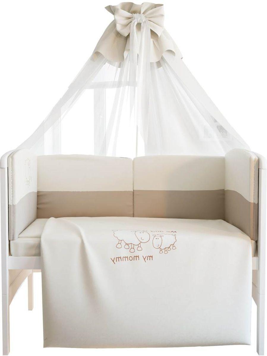 Fairy Комплект белья для новорожденных Я и моя мама цвет белый бежевый 7 предметов1018.100
