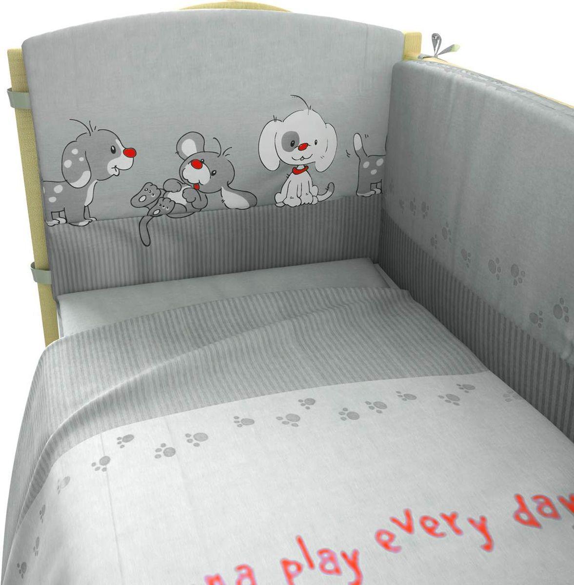 Фея Комплект белья для новорожденных Веселая игра цвет серый 6 предметов1064-3