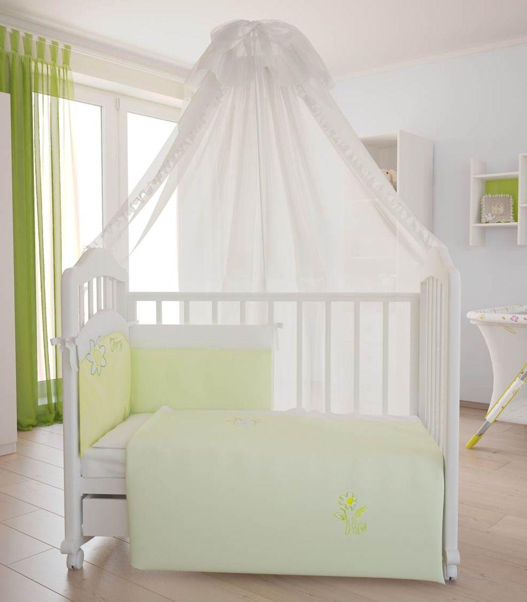 Fairy Комплект белья для новорожденных На лугу цвет белый желтый 7 предметов5614