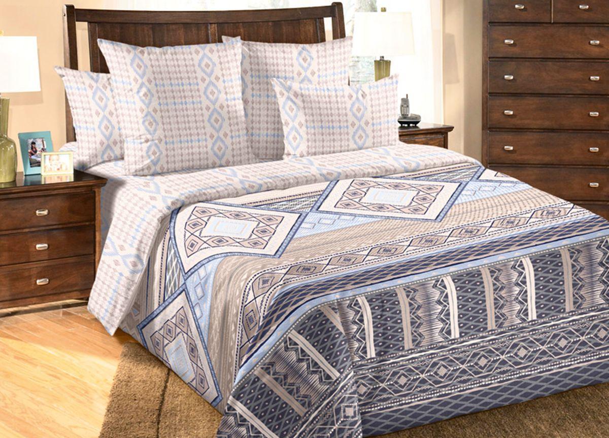 Комплект белья Primavera Геометрия, 2-спальный, наволочки 70x70, цвет: бежевый81950