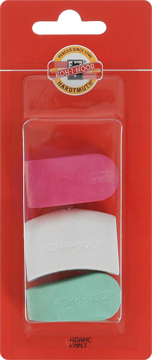 Koh-i-Noor Набор ластиков цвет красный белый зеленый 3 шт6222_красный, белый, зеленыйЛастики Koh-i-Noor идеально подходят для применения как в школе, так и в офисе. Ластики обеспечивают высокое качество коррекции, не повреждают поверхность бумаги, даже при сильном трении не оставляют следов. Абсолютно безопасны, не токсичны и экологичны. В упаковке 3 ластика.