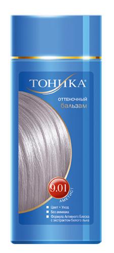 Тоника Оттеночный бальзам 9.01 Аметист, 150 мл6102Холодные оттенки волос создают притягательный и таинственный образ. Красивые и здоровые волосы- важный элемент имиджа! Разработан специально для волос с долей седины более 70% Не содержит спирт, аммиак и перекись водорода Содержит уникальный экстракт белого льна Красивый оттенок + дополнительный уход Стойкий цвет без вреда для волос
