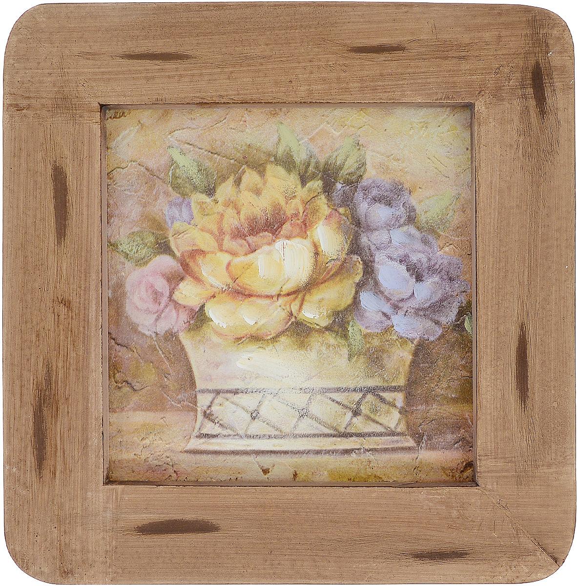 Картина-репродукция Феникс-Презент Корзинка с цветами, 20,3 х 20,3 х 1,5 см44439Картина-репродукция Феникс-презент Корзинка с цветами в рамке из МДФ выполнена печатью на бумаге с ручной подрисовкой. На оборотной стороне имеется петля для подвешивания на стену. Такая картина - вдохновляющее декоративное решение, привносящее в интерьер нотки творчества и изысканности! Благодаря оригинальному дизайну картина Корзинка с цветами дополнит интерьер любого помещения, а также сможет стать изысканным подарком для ваших друзей и близких.