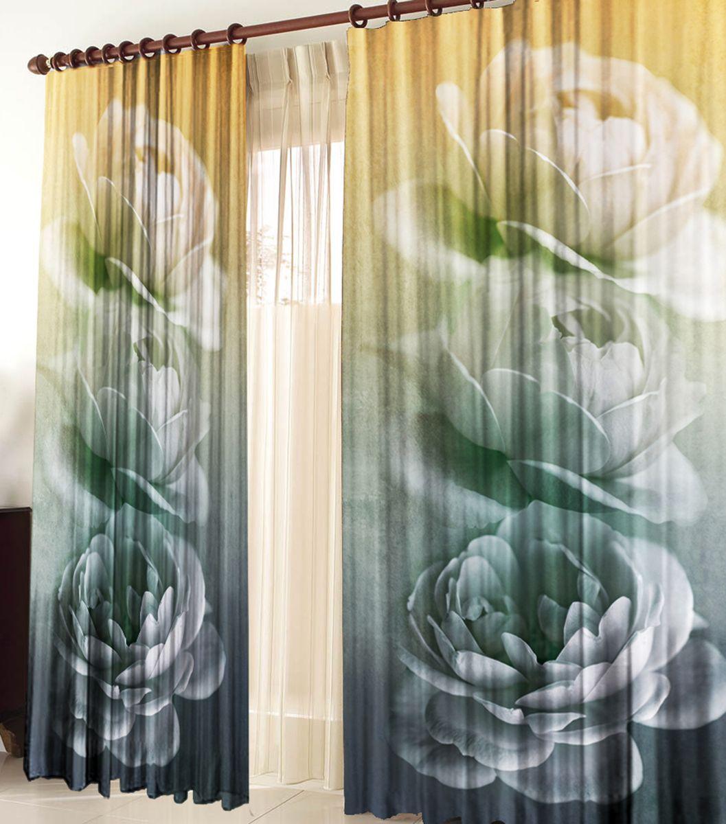 Комплект фотоштор Zlata Korunka Грезы, на ленте, высота 270 см790009Комплект фотоштор Zlata Korunka изготовлен из габардиновой ткани высочайшего качества. Фотошторы способны не пропускать самый яркий свет, их можно гладить и стирать. Рекомендации по уходу: бережная стирка при 30°С, деликатный отжим, отбеливание запрещено, гладить при температуре не более 150°С. Светопоглощение 70%. Плотность ткани: 150 г/м2. Оттенок изделия может отличаться от представленного на сайте в силу особенностей цветопередачи фототехники и вашего монитора.