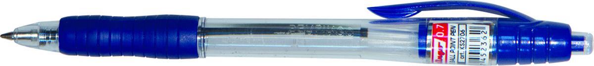 Berlingo Ручка шариковая Classic цвет синий72523WDАвтоматическая ручка с клипом и мягким резиновым грипом увеличенного размера. Кнопочная подача стержня. Цвет деталей корпуса соответствует цвету чернил. Диаметр пишущего узла - 0,7 мм. Упаковка в картонную коробку по 12 шт.