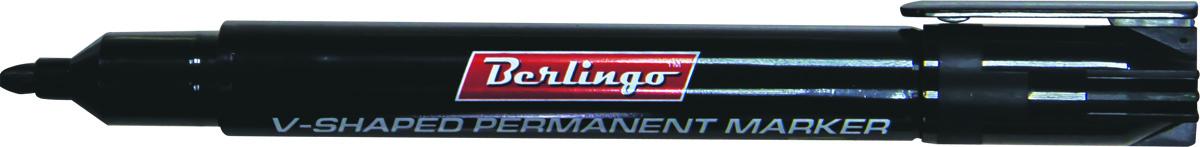Berlingo Маркер перманентный цвет черный BMc_04601SMA510-V8-ETПерманентный маркер Berlingo подходит для письма на любых поверхностях. Чернила на спиртовой основе. Плотный колпачок с клипом надежно предотвращает высыхание. Цвет колпачка соответствует цвету чернил. Клиновидный пишущий узел. Ширина линии варьируется от 1 до 5 мм. Длина непрерывной линии - 500 м.