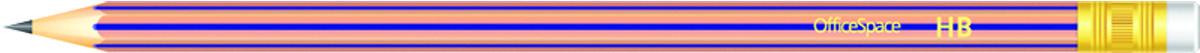 OfficeSpace Набор чернографитных карандашей с ластиком 12 шт PLPe_2807st/191026PP-220Набор чернографитных карандашей OfficeSpace с ластиком предназначен для чертежных и графических работ. Карандаш комплектуется ластиком. В комплекте 12 карандашей.