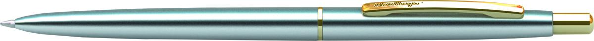 Berlingo Ручка шариковая Golden Prestige цвет корпуса серебристый золотистый610842Автоматическая шариковая ручка Berlingo Golden Prestige с кнопочным механизмом имеет оригинальный дизайн кольца. Цвет чернил - синий. Подходит для нанесения логотипа. Ручка упакована в индивидуальный пластиковый футляр.