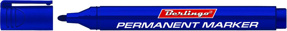 Berlingo Маркер перманентный цвет синий BMc_15202SMA510-V8-ETПерманентный маркер Berlingo предназначен для письма на любой поверхности. Заправлен водостойкими чернилами на спиртовой основе, которые после нанесения быстро высыхают и не стираются. Толщина линии - 3 мм.