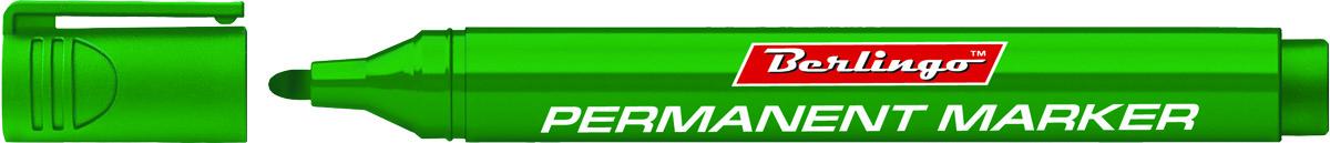 Berlingo Маркер перманентный цвет зеленый BMc_15204BMc_15204Перманентный маркер Berlingo предназначен для письма на любой поверхности. Заправлен водостойкими чернилами на спиртовой основе, которые после нанесения быстро высыхают и не стираются. Толщина линии - 3 мм. Цвет чернил - зеленый.