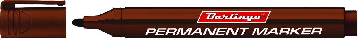 Berlingo Маркер перманентный цвет коричневый BMc_15222610842Перманентный маркер Berlingo предназначен для письма на любой поверхности. Заправлен водостойкими чернилами на спиртовой основе, которые после нанесения быстро высыхают и не стираются. Толщина линии - 3 мм.